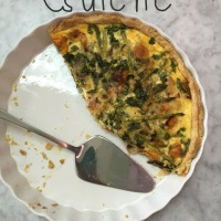 Friends are the family you choose! Quiche for lunch.
