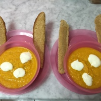 Carrot Soup with Bunny Ears